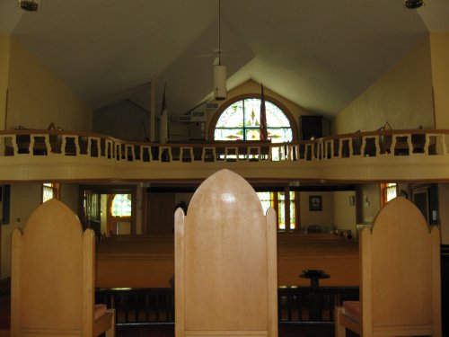 rear of the sanctuary (from the front)