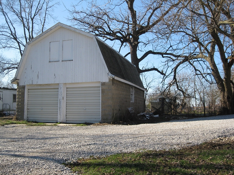 the old garage at The Manse